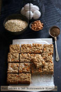 Wholewheat & Oat Butterscotch Blondies : passionateaboutbaking
