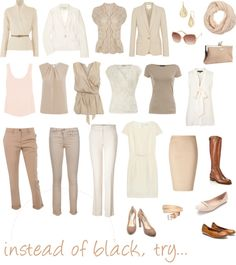 """instead of black, try..."" by pinz824 on Polyvore"