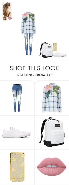 """""""arranged marriage"""" by gabby-1606 on Polyvore featuring Ted Baker, Converse, JanSport, Lime Crime and France Luxe"""
