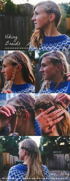 Viking Babe #hair  How-To Hair Girl | More Fierce Braids for Viking Babes