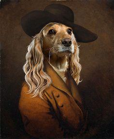 Dog Dandy Print Dog Portrait Dog Art Animal Portrait