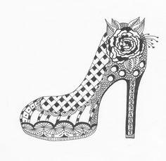 Zentangle shoe ~ Awesome!