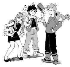 Pokemon Manga, Pokemon Red, Pokemon Games, Pokemon Especial, Red Green, Blue, Yellow, Pokemon Pictures, Catch Em All