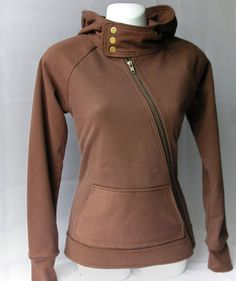 Snap Hoodie.  Love that there's an asymmetrical zipper and a pocket.