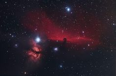 The Horsehead nebula, also known as Barnard 33 in emission nebula IC 434, taken at Seneca and Oswego in Illinois, Feb.-March 2014