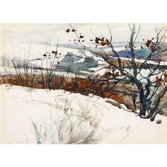 GRAY BARN By Andrew Wyeth