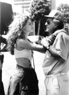 """Julia Roberts e Garry Marshall sul set di """"Pretty Woman"""" (1990)"""