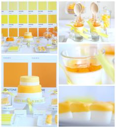 Oh my God!!! Pantone Themed Birthday Party with Such Cute Ideas via Kara's Party Ideas KarasPartyIdeas.com #yellowparty #pantonepaintparty #adultbirthday...