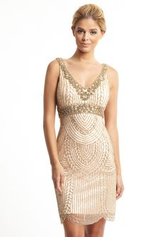 SUE WONG V-Neck Beaded Trim Dress | I LOVE, LOVE, loooove Sue Wong!