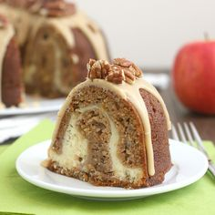 Apple-Cream Cheese Bundt Cake by Tracey's Culinary Adventures