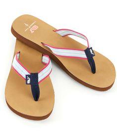 Grosgrain Leather Flip Flops
