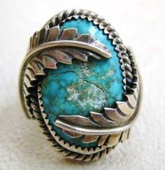 vintage native american genuine turquoise/silver jewelry ♥ #NativeAmericanJewelry