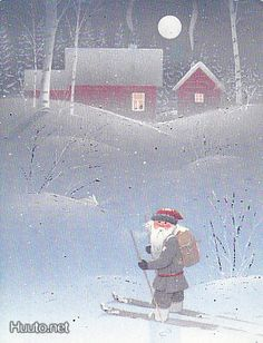 Jaana Aalto Christmas Tale, Christmas Illustration, Painting, Painting Art, Paintings, Painted Canvas, Drawings