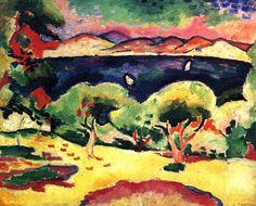 George Braque, Le golfe des Lecques. (La baie de Saint-Cyr-sur-Mer). [automne 1907]. Huile sur toile