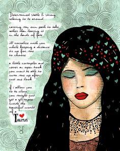 Art de Taurus imprimer illustration originale personnalisable