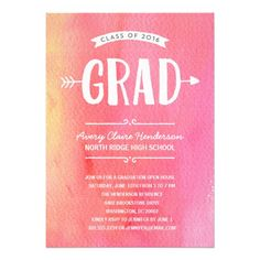 139 best pink graduation invitations images on pinterest in 2018
