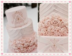 lovely pink wedding cakes