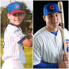 Anthony Rizzo, then and now. -- This is too cute!