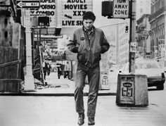 Taxi Driver: 8th Avenue & 47th Street. With a shot of Travis Bickle walking down a derelict 8th Avenue lined by adult cinemas, Martin Scorsese brilliantly uses a single location to define his entire film. The porno theatre is now a Gray Line tourist bus stop. Photograph: Granamour Weems Collection/Alamy a movie scout's favourite New York City film locations – in pictures