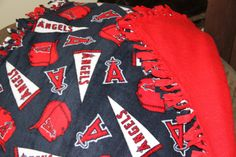 MLB Angels Baseball Fleece Baby Blanket. $27.00, via Etsy.