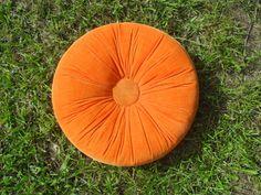 Vintage juicy orange retro orange pillow