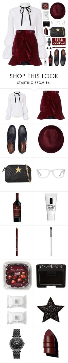 """Star Outfits"" by mylkbar ❤ liked on Polyvore featuring Caroline Constas, self-portrait, Redopin, STELLA McCARTNEY, Muse, Clinique, Charlotte Russe, Obsessive Compulsive Cosmetics, FRUIT and NARS Cosmetics"