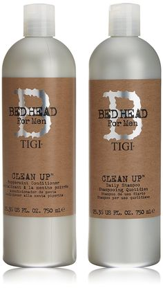 TIGI Bed Head For Men Clean Up Shampoo and Conditioner Tween Duo 2 x 750ml ** More details can be found by clicking on the image. #hairenvy