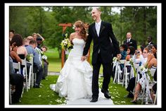 Outdoor wedding ceremony Amber and Colby's Wedding ~ Twin Hills Country Club, East Longmeadow MA