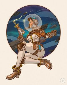 ArtStation - Space Lass Pin-Up, Tom van der Linden