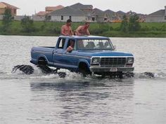 Yeah baby! Only a Ford could handle this!
