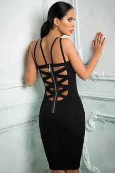 Sexy Cutout Sleeveless Bodycon Midi Dress