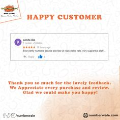 #CustomerReview #HappyCustomer💯  #Numberwale #BecauseNumberMatters #VIPNumbers #PremiumNumbers #CloudTelephony #IVR #VirtualReceptionist #SMS #BulkSMS #SMSService Fancy Numbers, Virtual Receptionist, Thank You So Much, Vip, How To Make