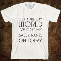 Love the saying, but wish it was a fitted tee.    <3 Percy every day #persassy