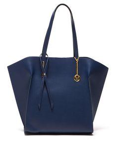 Blue leather trapeze shoulder bag Sale - Mangotti Sale