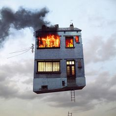 Laurent Chehere's Crazy Flying House Photographs