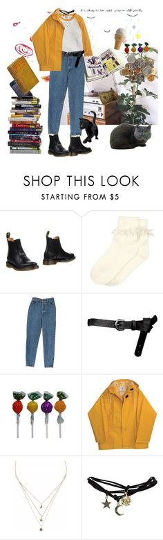 """Art hoe"" by denizburcinsinar ❤ liked on Polyvore featuring Dr. Martens, Monsoon, ASOS, CO, Liz Law, Wet Seal and DK"