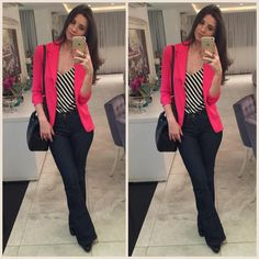 Simple Summer to Spring Outfits to Try in 2019 Cute Casual Outfits, Business Casual Outfits, Chic Outfits, Fashion Outfits, Work Casual, Casual Chic, Casual Looks, Look Blazer, Blue Blazer Outfit