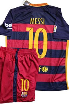 LIONEL MESSI BARCELONA HOME JERSEY MENS With FREE Shorts Adult