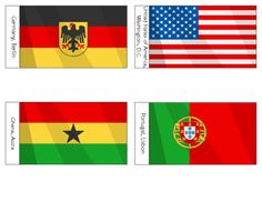 World Cup Brazil 2014 Countries - Group G | KidsPressMagazine.com  Print, cut and decorate your room for world cup! #Printable #flags