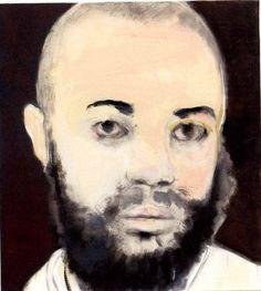 """Marlene Dumas, """"The Neighbor,"""" 2005, Oil on canvas, 39 3/8 x 35 1/2 inches."""