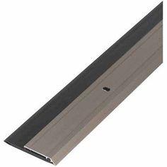 M D Products 48996 36 Inch Satin Nickel Heavy Duty Aluminum And Vinyl Door  Sweep,