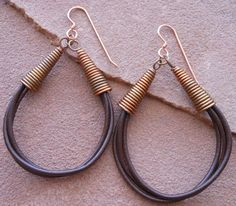3-Strand Leather Earrings