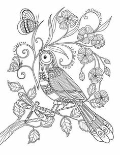 pour me donner des ailes coloring book agenda 2015 is part of Adult coloring pages - Adult Coloring Pages, Bird Coloring Pages, Printable Coloring Pages, Coloring Sheets, Coloring Books, Art Zen, Wal Art, Line Art, Art Drawings