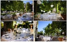 Simple flower and table arrangements