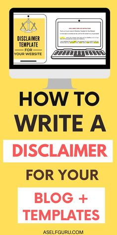 Learn how to write your blog disclaimers and what you MUST include in your blog disclaimer to stay safe, legal and credible. Here's everything you need to write your own & several blog disclaimer examples! #blogdisclaimertemplate #blogdisclaimerexample #blogdisclaimertips #blogdisclaimerarticles #blogdisclaimerwebsite Make Money Blogging, Make Money Online, How To Make Money, Email Marketing Services, Affiliate Marketing, Business Tips, Online Business, Work From Home Jobs, Blogging For Beginners