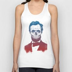 Dead Lincoln Unisex Tank Top by Balazs Solti. Worldwide shipping available at Society6.com. Just one of millions of high quality products available.