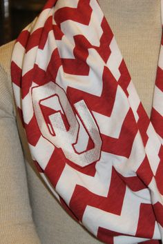 Crimson and Cream Oklahoma OU Embroidered by DDaltonLaneDesigns