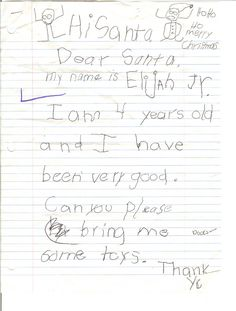 189 best letters to santa images on pinterest merry christmas love check out the images of real letters to santa claus from kids each was answered by volunteer elves in christmases past if you cant volunteer to send spiritdancerdesigns Images