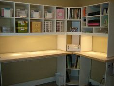 this is interesting. I would expand the box shelving to the ceiling and perhaps add doors on the bottom