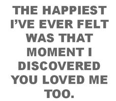 The Happiest I have EVER Felt...  Never a truer word!!